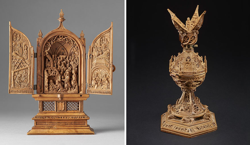 miniature boxwood carvings 16th century