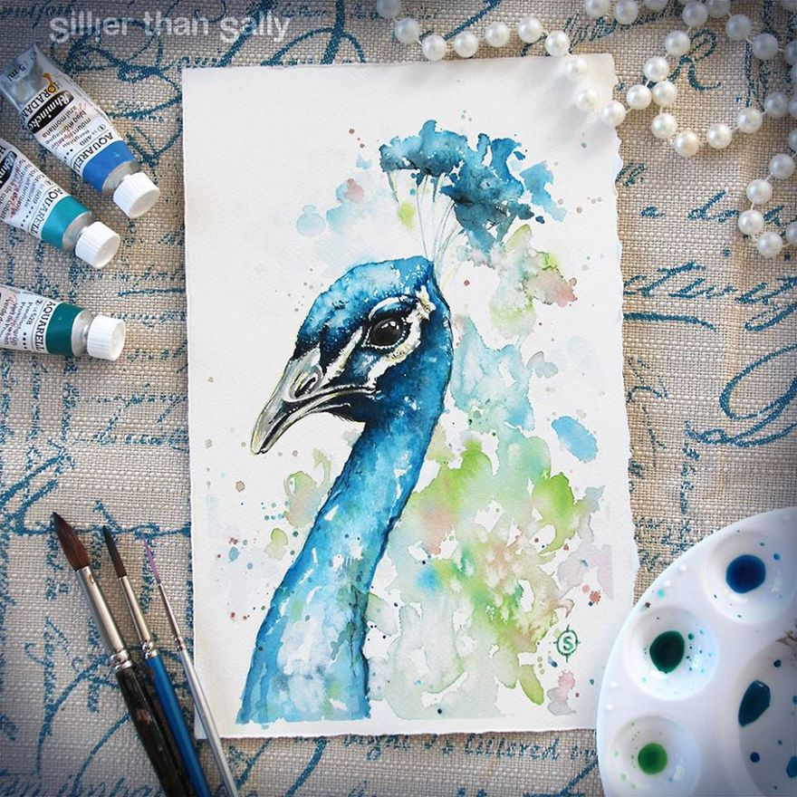 watercolor paintings sillier than sally designs 12