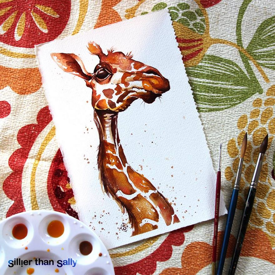 watercolor paintings sillier than sally designs 15