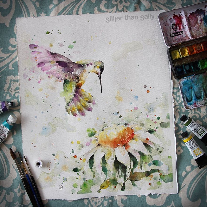 watercolor paintings sillier than sally designs 17