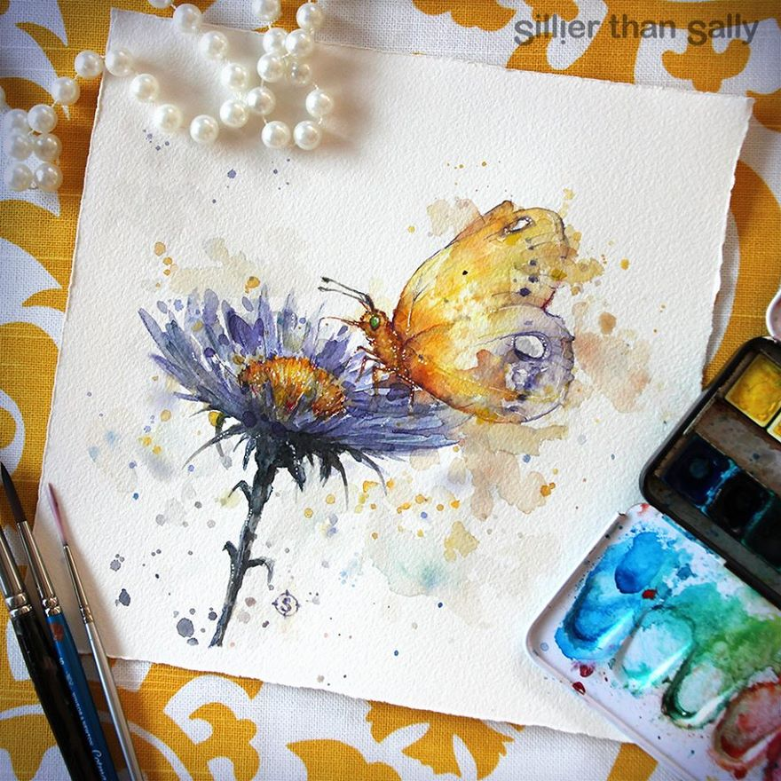 watercolor paintings sillier than sally designs 20