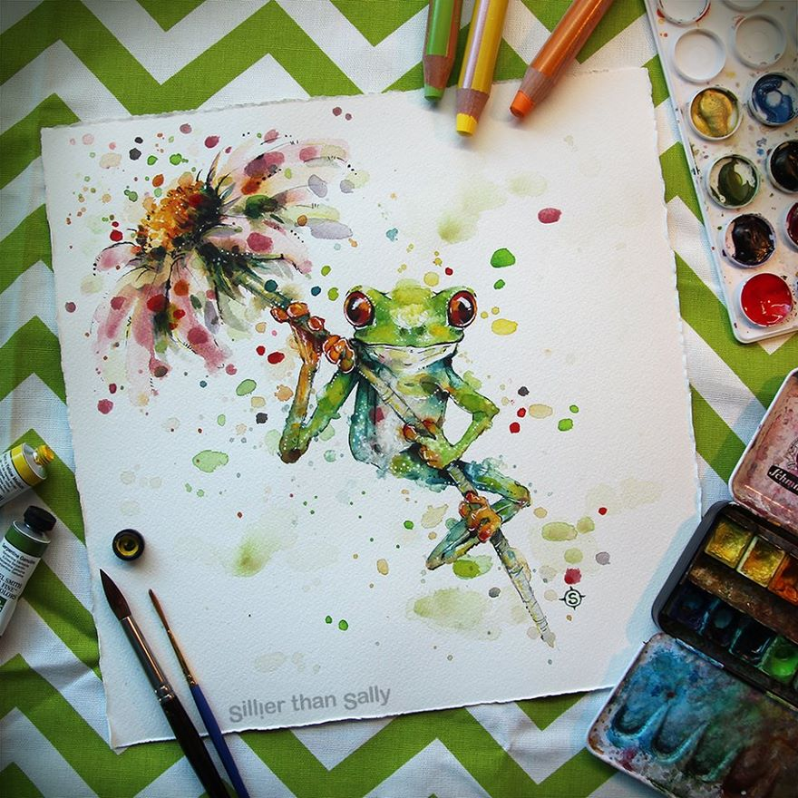 watercolor paintings sillier than sally designs 26