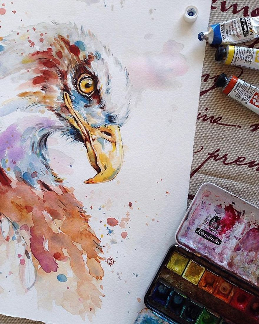 watercolor paintings sillier than sally designs 27