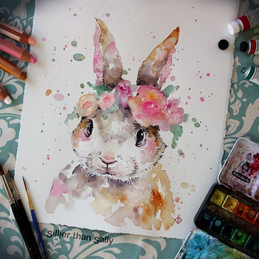 watercolor paintings sillier than sally designs 30