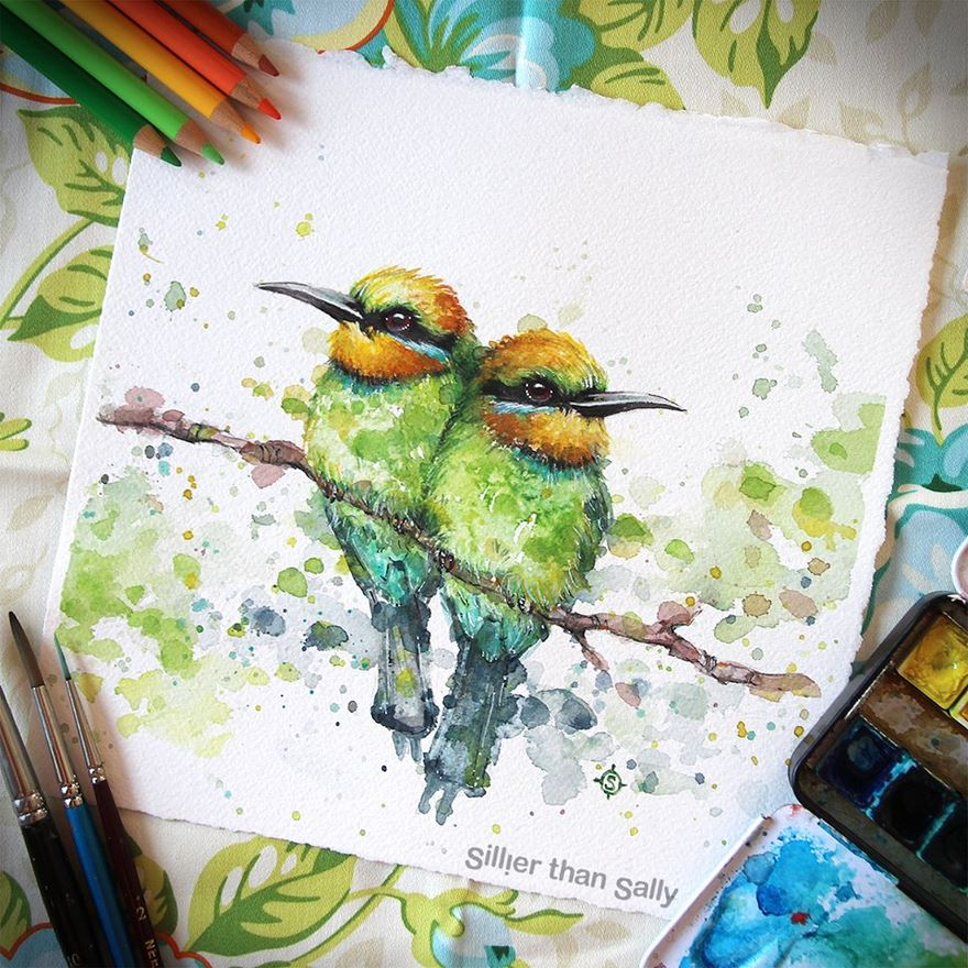 watercolor paintings sillier than sally designs 32