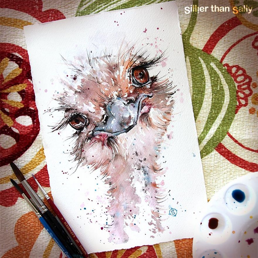 watercolor paintings sillier than sally designs 33