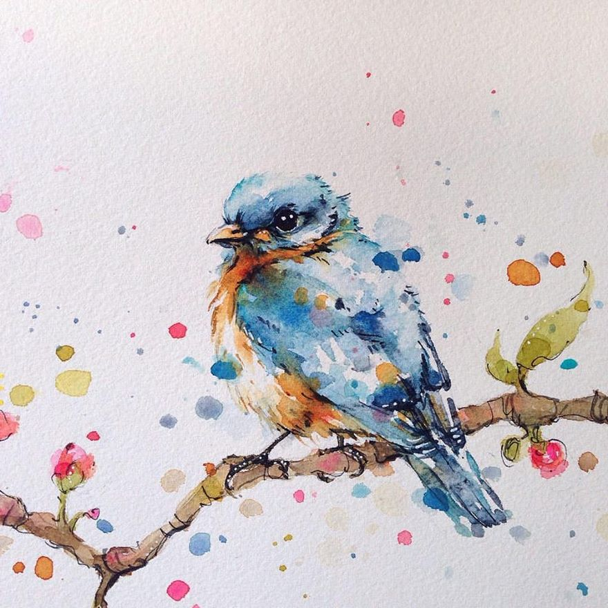 watercolor paintings sillier than sally designs 34