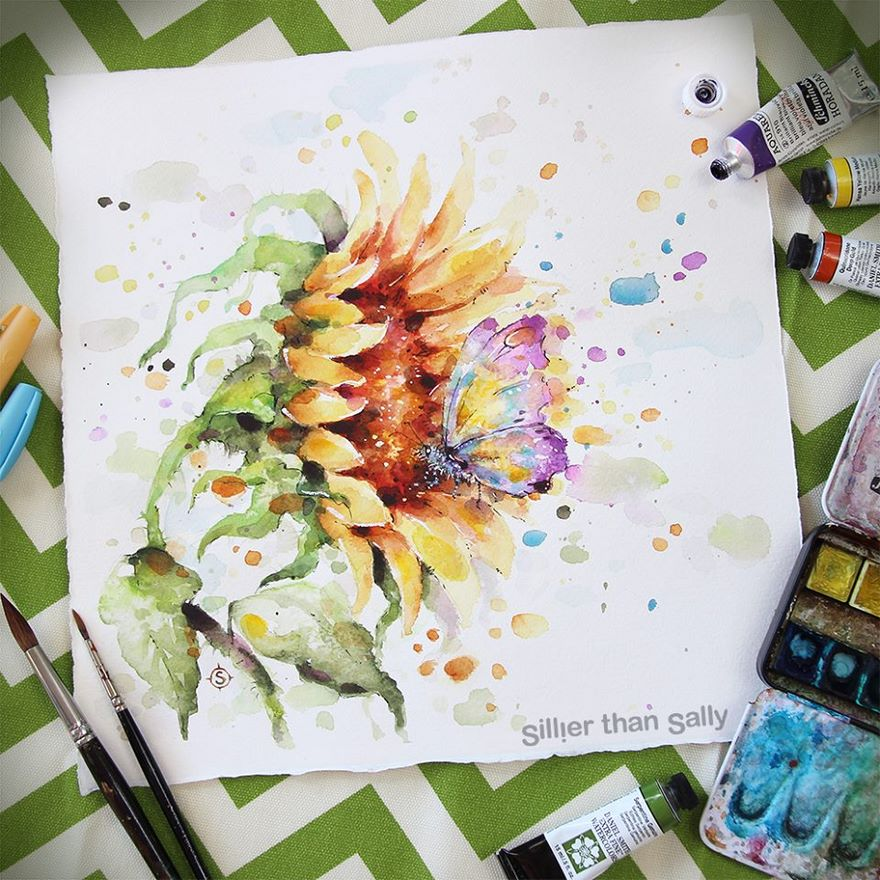 watercolor paintings sillier than sally designs 35
