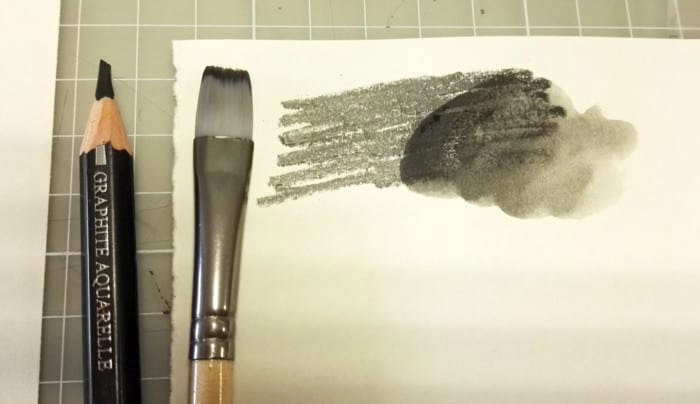 Test the watercolor graphit